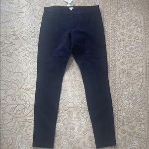 Navy blue J. Crew cigarette pants. NWT